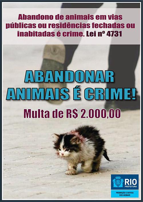 Abandonar Animais é Crime.